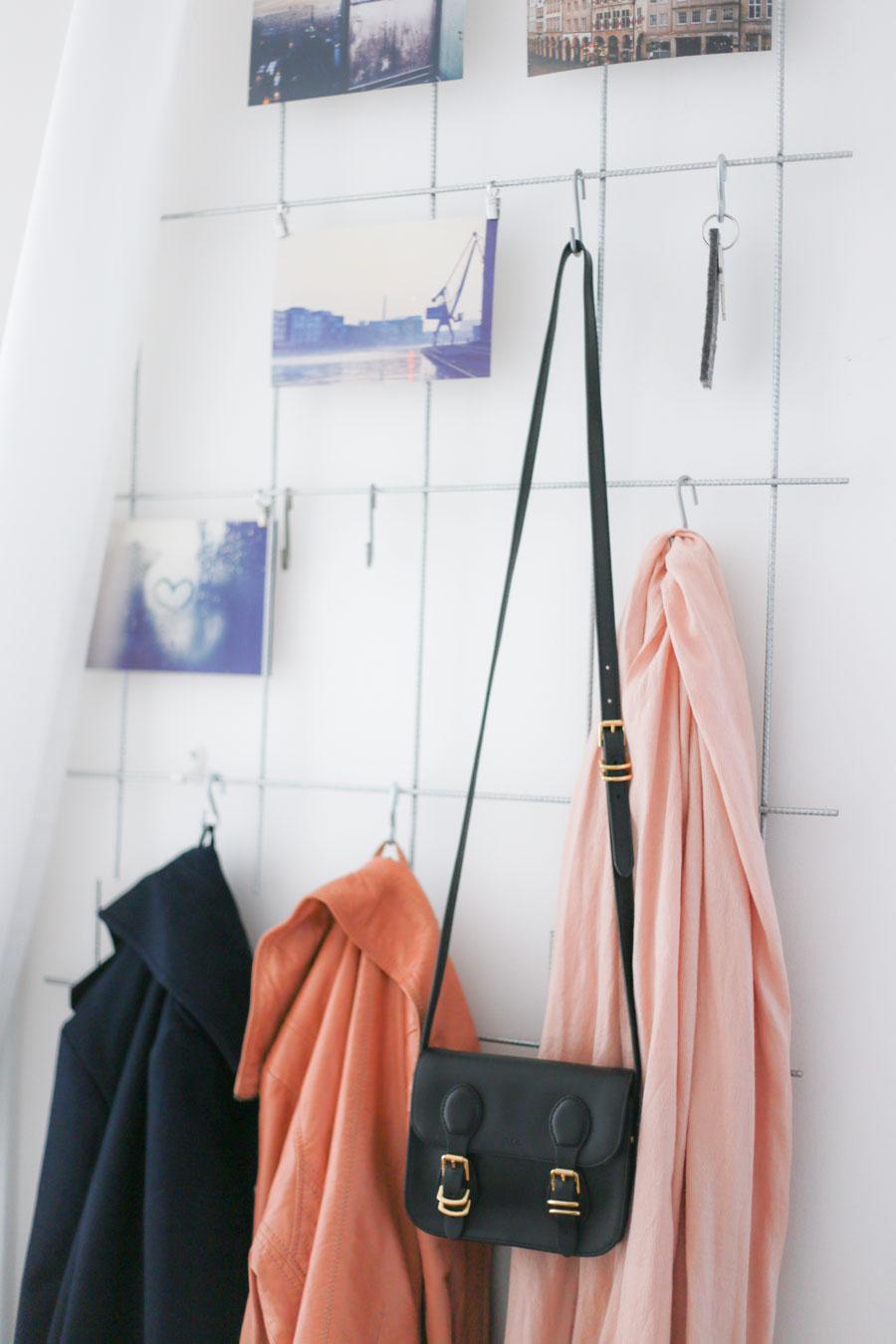Garderobe Gitter diy schöne garderobe aus gittern selber bauen