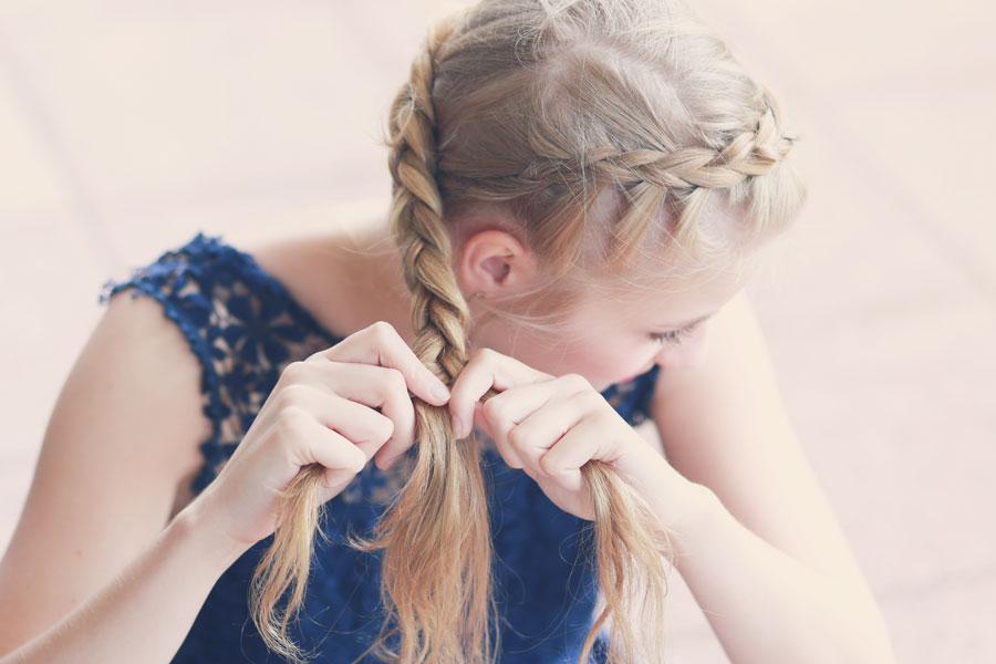 Tutorial Geflochtener Haarkranz Mit Blumen
